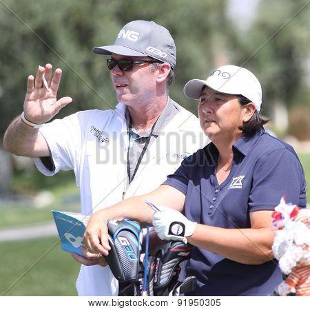Pat Hurst At The Ana Inspiration Golf Tournament 2015