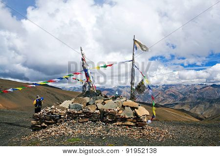 Buddhist Chorten At The Pass