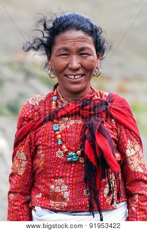 Smiling Nepalese Woman