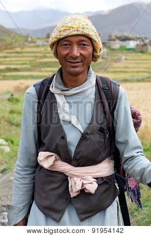 Gurung man in Dolpo, Nepal