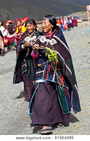 Tibetan People In Dolpo, Nepal