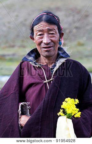 Tibetan nomad in Dolpo, Nepal