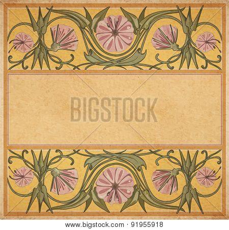 Old Paper Floral Frame