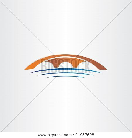 Bridge And River Stylized Symbol