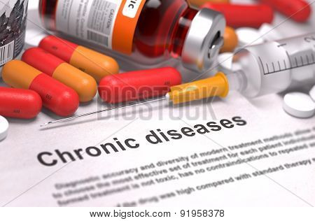 Diagnosis - Chronic Diseases. Medical Concept.