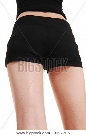 Slim Girl In Shorts.