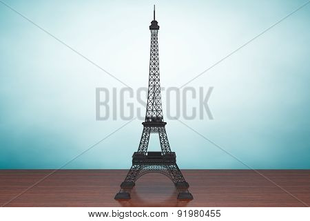 Old Style Photo. Eiffel Tower