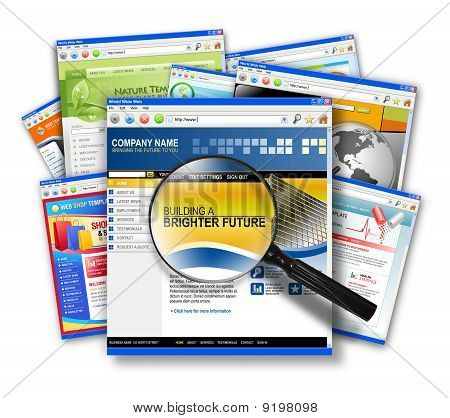 Internet Web Site Search Collage