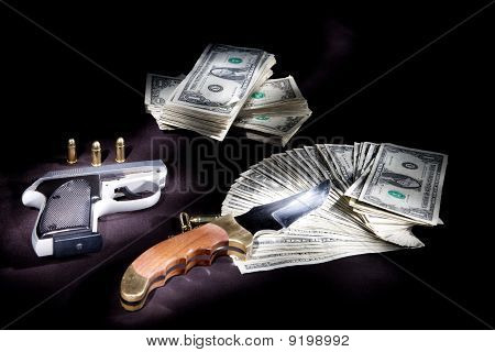 Cash and weapons.