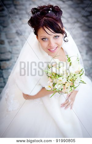 Beautiful Bride On Heir Wedding Day