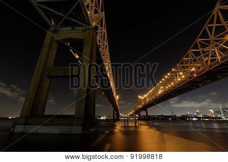The Crescent City Connection Bridge