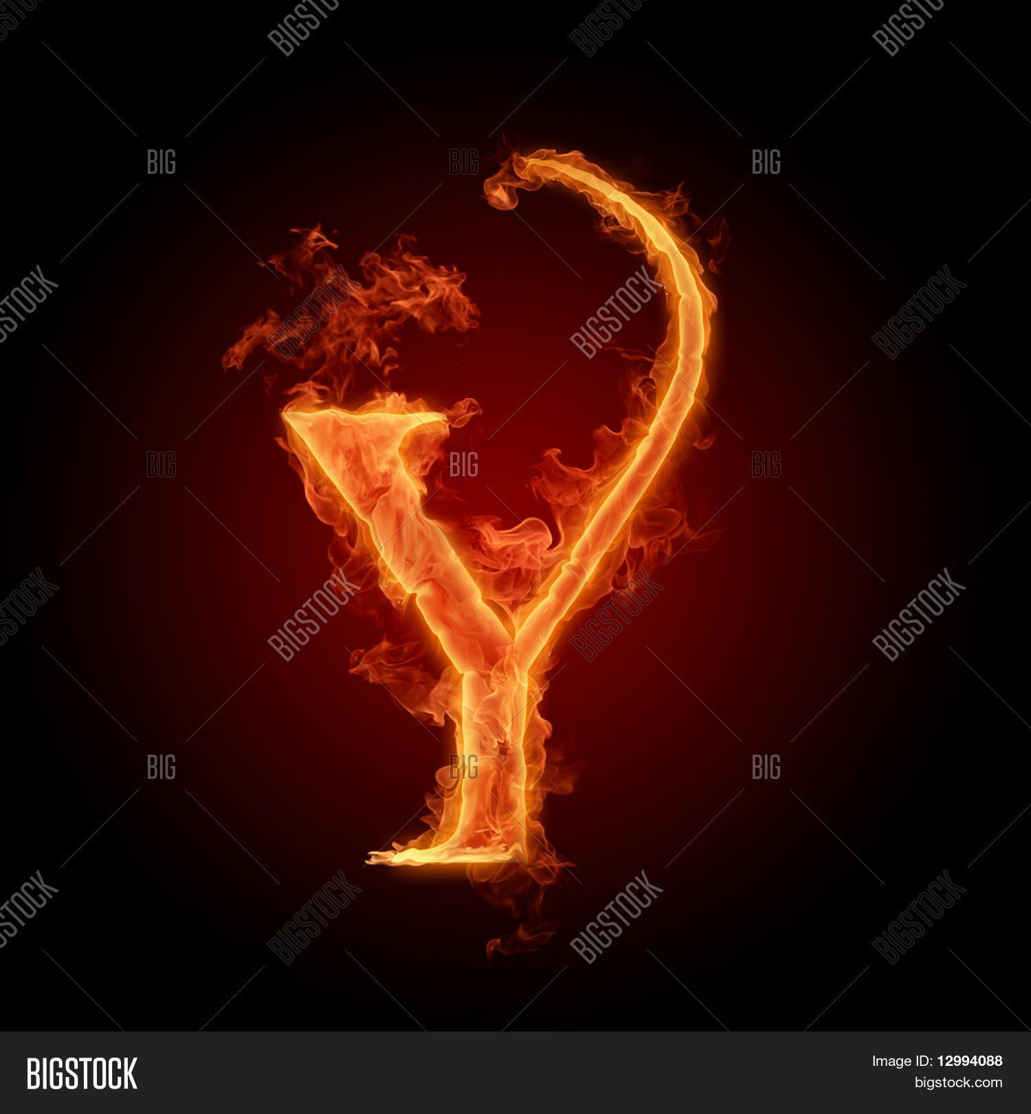 Fiery Font Letter Y Image Photo Free Trial Bigstock