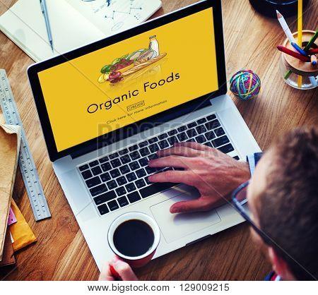 Organic Foods Ecological Nutrition Tasteful Nature Concept