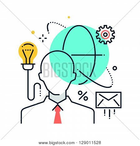 Outsource cloud concept illustration icon background and graphics. The illustration is colorful flat vector pixel perfect suitable for web and print. It is linear stokes and fills.