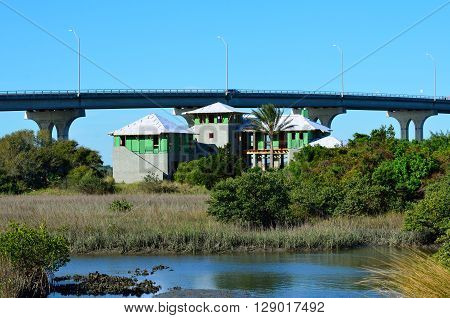 Multi Family Home Construction on the marshland of Florida, USA.