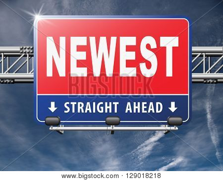 newest best or latest model hot news headlines button or icon with text and word concept