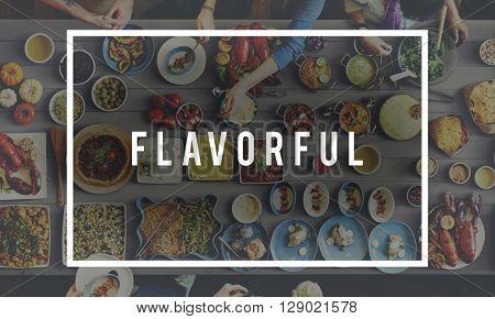 Flavorful Food Beverage Freshness Health Concept poster