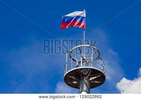 The Flag Of Russia On The Observation Deck
