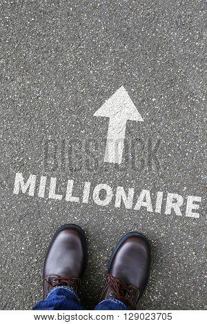 Business Concept Millionaire Rich Wealth Success Successful