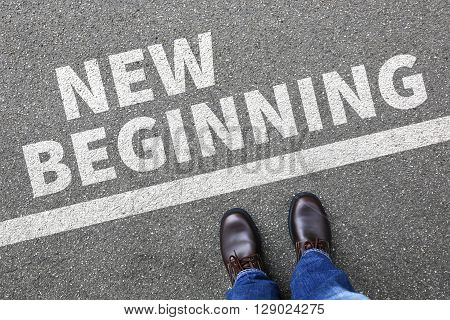New Beginning Beginnings Old Life Future Past Goals Success Decision Change