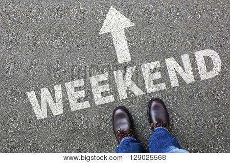Weekend Relax Relaxed Break People Business Concept Free Time