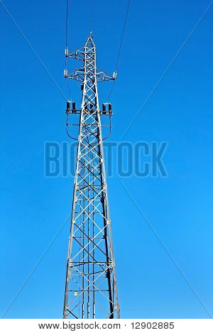 Tower Of High Voltage Electric Power