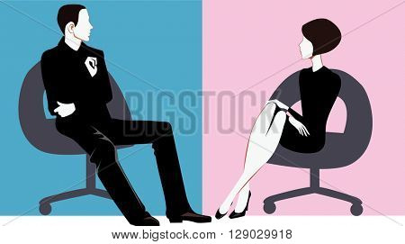 men and women sitting on chair