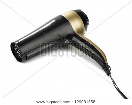 Hair dryer isolated on white background.
