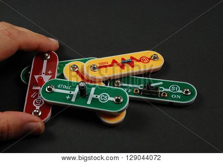 stock pictures of electronic components used to build circuits