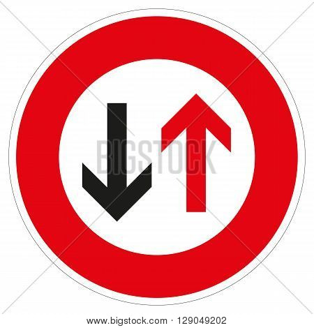 a symbol for grant the oncoming traffic will prevail