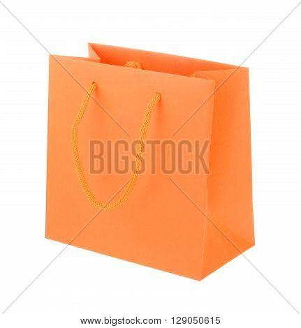 Orange Paper Shopping Bag