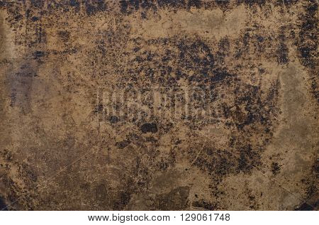 grungy texture of a vintage bookcover with stains, scratches and wrinkles