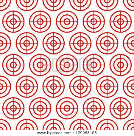 Cross hair target mark reticle. Graphics for hunting accuracy firearm aiming targeting concepts - Repeatable pattern. poster