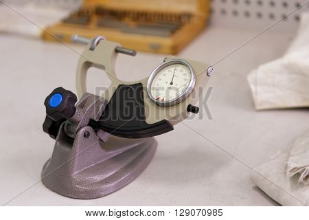 """ST. PETERSBURG, RUSSIA - APRIL 18, 2016: Instrument of measurement in the Center of Fine Mechanics at JSC """"Avangard"""". It is Russia's leading company in radio electronics and microsystems engineering"""