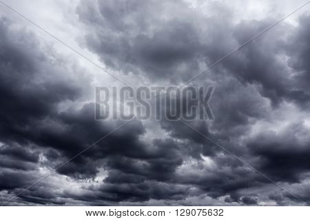 dark storm cloud in the sky before storm