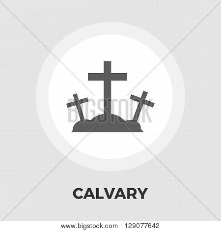Calvary icon vector. Flat icon isolated on the white background. Editable EPS file. Vector illustration.