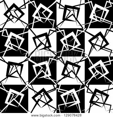 Mosaic Of Random, Scattered Lines.