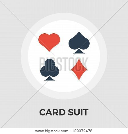 Card suit icon vector. Flat icon isolated on the white background. Editable EPS file. Vector illustration.