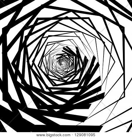 Abstract Spirally Artistic Background.