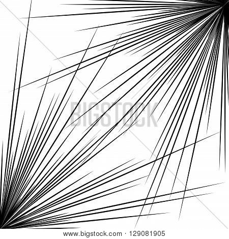 Pointed, Sharp Abstract Shape, Element. Radiating, Bursting Edgy, Sharp Lines.