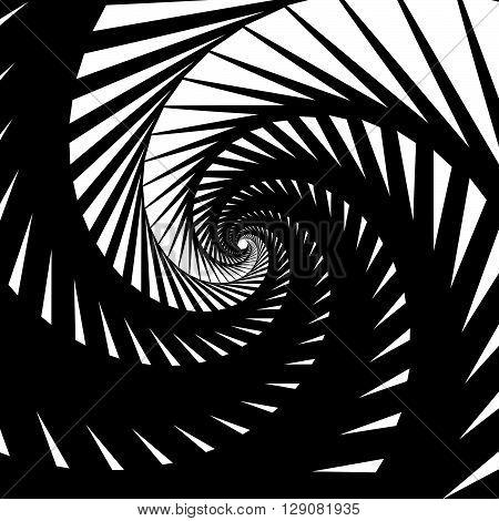 Abstract Background-pattern With Spirally, Vortex Effect