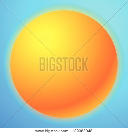 Sun Graphics With Bright Gradient Fill. Graphic For Summer, Solarium, Happiness Or Rellated Theme