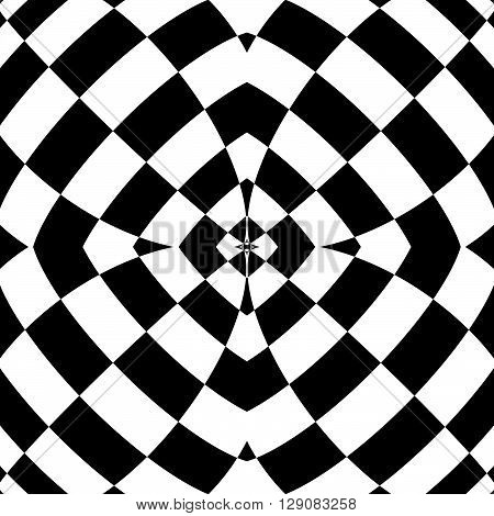 Mirrored Symmetrical Pattern. Geometric Monochrome Background. Tessellating, Mosaic Texture With Hig