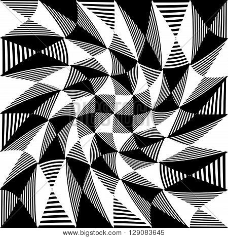 Abstract Liny, Checkered Pattern
