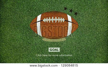 American Football Goal Sport Game Concept