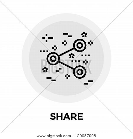 Share icon vector. Flat icon isolated on the white background. Editable EPS file. Vector illustration.