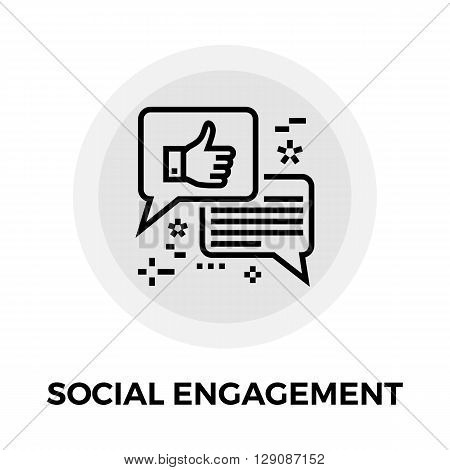 Social Engagement icon vector. Flat icon isolated on the white background. Editable EPS file. Vector illustration.