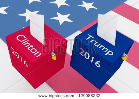 Clinton Vs Trump Election Concept