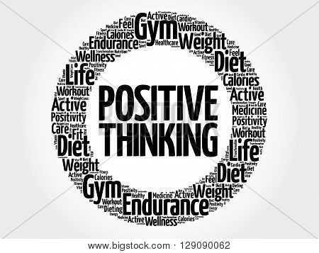 Positive Thinking Circle Word Cloud
