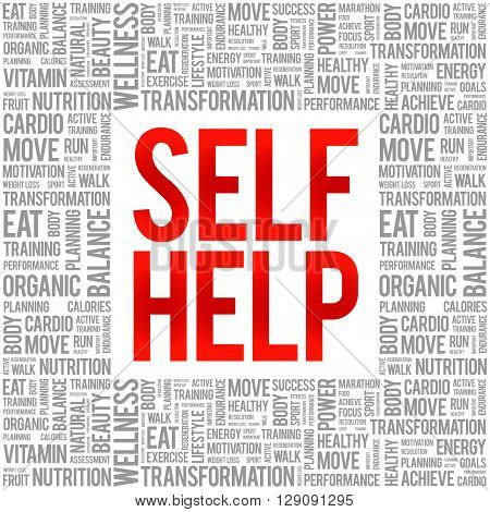 Self Help Word Cloud Background